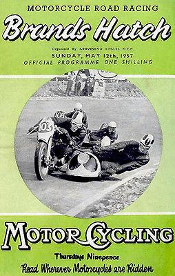 1957 Brands Hatch Motorcycle Road Racing - Promotional Advertising Magnet