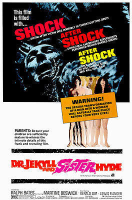 Dr. Jekyl and Sister Hyde - 1971 - Movie Poster