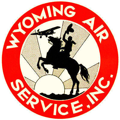 1930 Wyoming Air Service, Inc - Promotional Advertising Poster