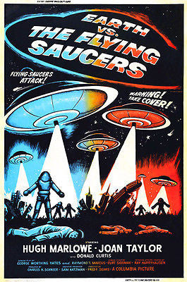 Earth vs The Flying Saucers #2 - 1956 - Movie Poster