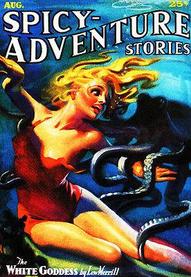 Spicy Adventure Stories - August 1936 - Magazine Cover Magnet
