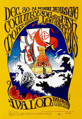 Country Joe & the Fish - Moby Grape - 1967 - Avalon Ballroom - Concert Poster