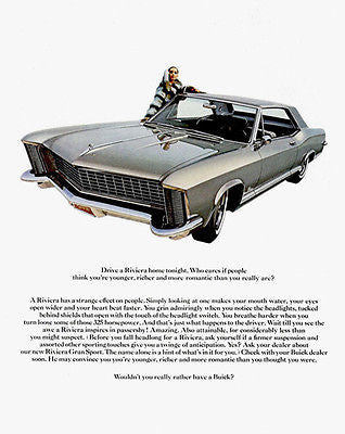 1965 Buick Riviera - Promotional Advertising Poster