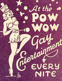 1930's The Pow Wow - Gay Entertainment - Matchbook Advertising Poster