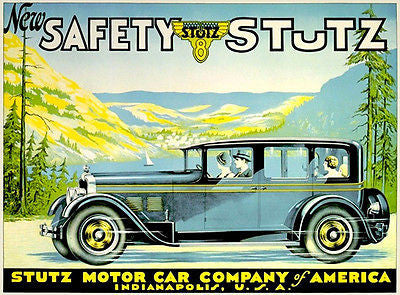 1926 Stutz 8 Limousine - Promotional Advertising Poster