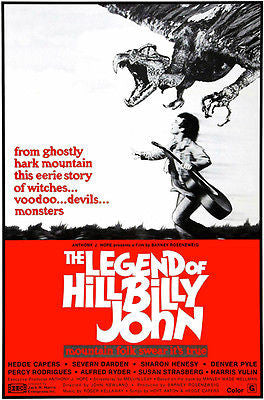 The Legend of Hillbilly John - 1972 - Movie Poster