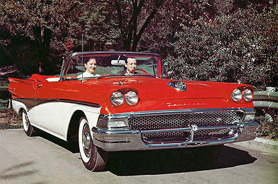1958 Ford Fairlane 500 Sunliner Convertible - Promotional Photo Poster