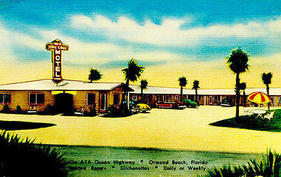 New King Cole Motel - Ormond Beach FL - Vintage Postcard Poster