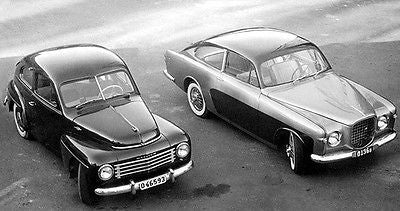 1954 Volvo PV 444 & Volvo Concept Car - Promotional Photo Poster