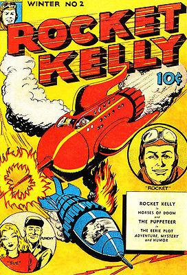 Rocket Kelly - Winter 1944 - Comic Book Cover Magnet