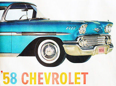 1958 Chevrolet - Promotional Advertising Poster