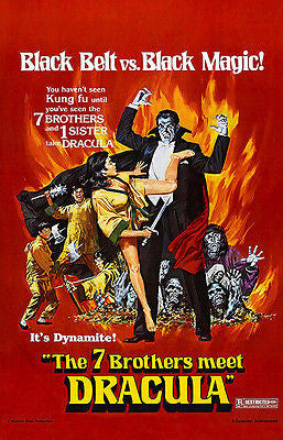The 7 Brothers Meet Dracula - 1974 - Movie Poster
