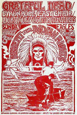 Grateful Dead - Benefit For Indian Rights - 1968 - Concert Poster Mug
