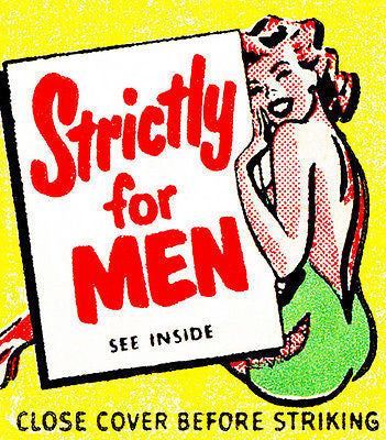 1950's - Strictly For Men - Matchbook Advertising Poster