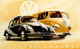 1950 VW Volkswagen - Promotional Advertising Poster