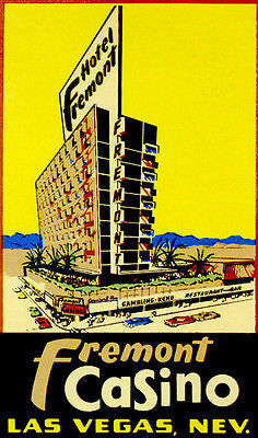 1950's - Fremont Casino - Las Vegas, NV - Travel Advertising Poster