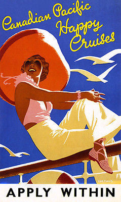 1930's - Canadian Pacific Happy Cruises - Travel Advertising Poster