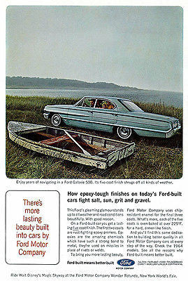 1964 Ford Galaxie - Promotional Advertising Poster