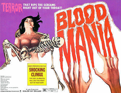Blood Mania - 1970 - Movie Poster