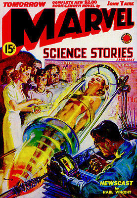 Marvel Science Stories - April / May 1939 - Magazine Cover Poster