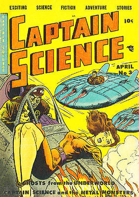 Captain Science #3 - 1950 - Comic Book Cover Poster