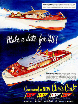 1948 Chris Craft Boats - Promotional Advertising Poster