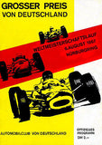 1967 German Grand Prix Race - Nurbergring - Promotional Advertising Poster