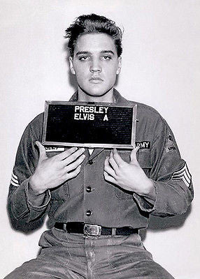 Elvis Presley - Army Mugshot - 1960 - Photo Poster