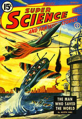 Super Science and Fantasy Stories - August 1945 - Magazine Cover Magnet