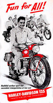 1950's Harley Davidson 125 - Promotional Advertising Poster