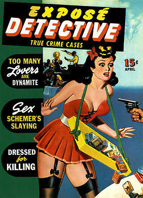 Expose' Detective - 1940's - Magazine Cover Poster