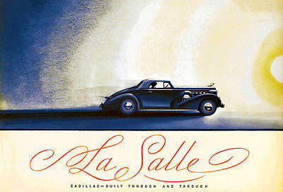 1936 La Salle - Promotional Advertising Poster