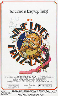 The Nine Lives Of Fritz The Cat - 1974 - Movie Poster