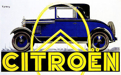 1932 Citroen - Promotional Advertising Poster