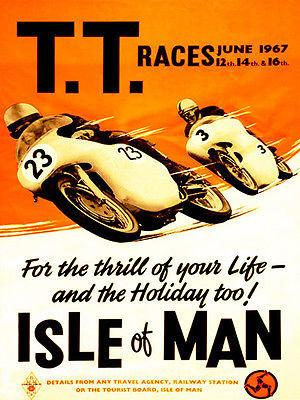 1967 Isle of Man TT Race - Promotional Advertising Magnet