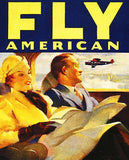 1933 American Airlines - Fly American - Travel Advertising Poster