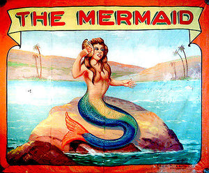 1960's Carnival Sideshow - The Mermaid - Poster