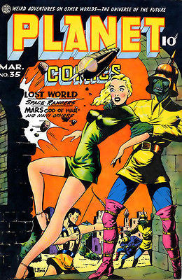 Planet Comics #35 - March 1945 - Comic Book Cover Poster