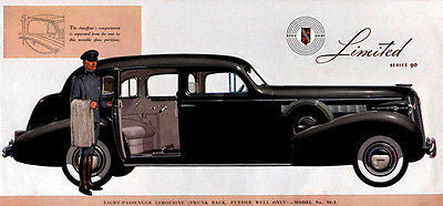 1937 Buick Limousine - Promotional Advertising Poster