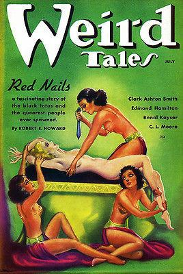 Weird Tales - July 1936 - Magazine Cover Magnet