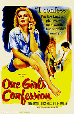 One Girl's Confession - 1953 - Movie Poster