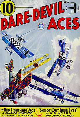 Dare Devil Aces - July 1933 - Comic Book Cover Poster