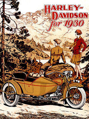 1930 Harley-Davidson - Promotional Advertising Poster