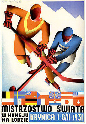 1931 Hockey World Championships - Promotional Advertising Poster
