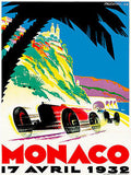 1932 Monaco Grand Prix Race - Promotional Advertising Poster