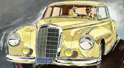 1952 Mercedes-Benz 300 S - Promotional Advertising Poster