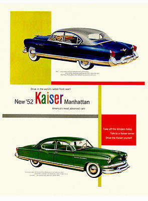 1952 Kaiser Manhattan - Promotional Advertising Poster