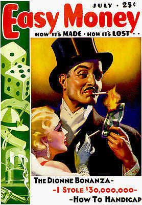 Easy Money - July 1937 - Magazine Cover Poster