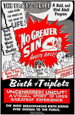 No Greater Sin & Birth of Triplets - Double Feature - 1964 - Movie Poster