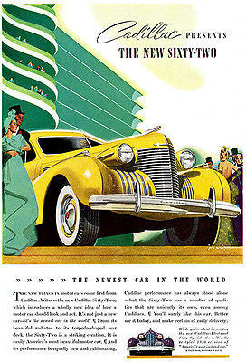 1940 Cadillac Sixty-Two - Promotional Advertising Poster
